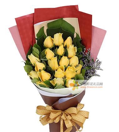 19朵黄玫瑰图片