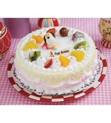 一次性蛋糕用品一套 备 注: 活灵活现的动物卡通形象,为生日蛋糕增添