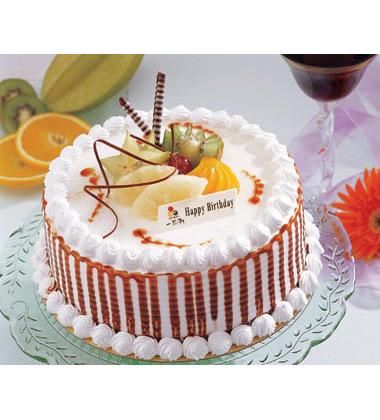编  号:5102104 材  料: 2磅(8寸),蛋糕+双层夹心+时令水果+造型