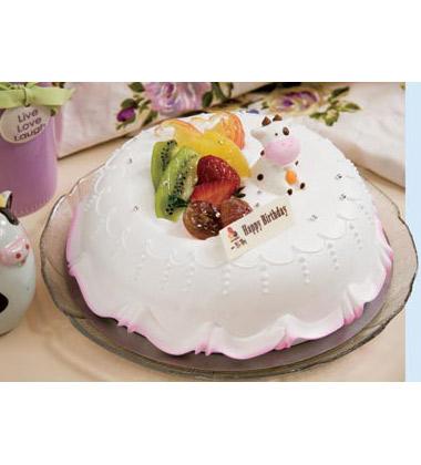 爸妈卡通图案蛋糕