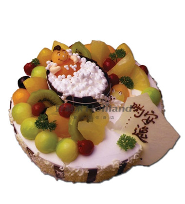 2016欧式卡通水果蛋糕6寸