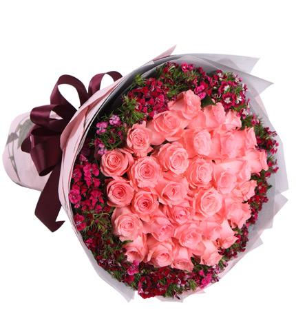 33朵黄玫瑰花语_33朵粉玫瑰的花语,33朵粉玫瑰代表什么意思?-中国鲜花礼品网